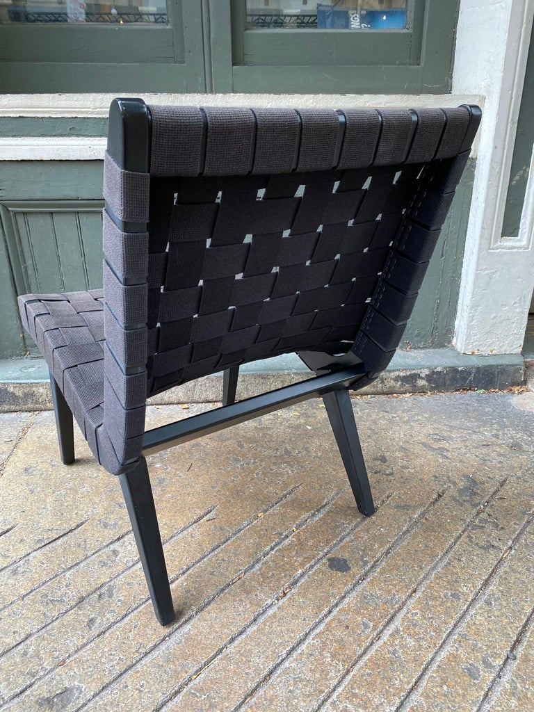 American Jens Risom Webbed Lounge Chair For Sale