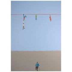 Jens Ulrich Petersen Danish Listed Artist, Oil / Canvas, Men on String