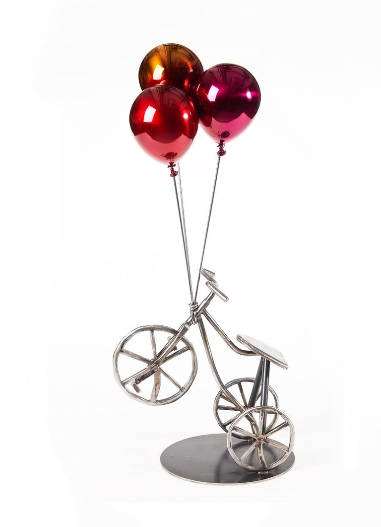 Jeon Kang Ok Figurative Sculpture - Balloons & Tricycle