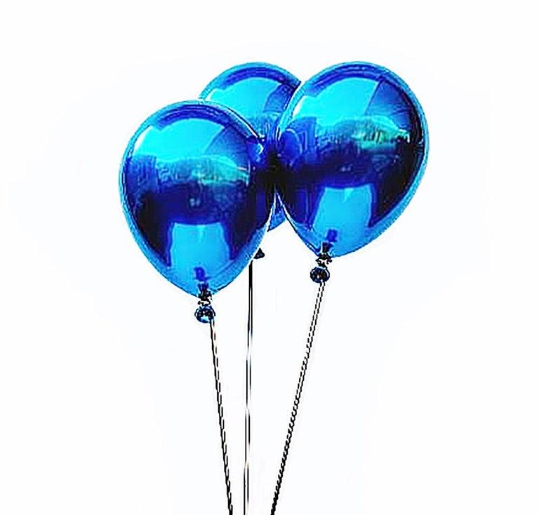 Blue Balloons & Stool - Sculpture by Jeon Kang Ok