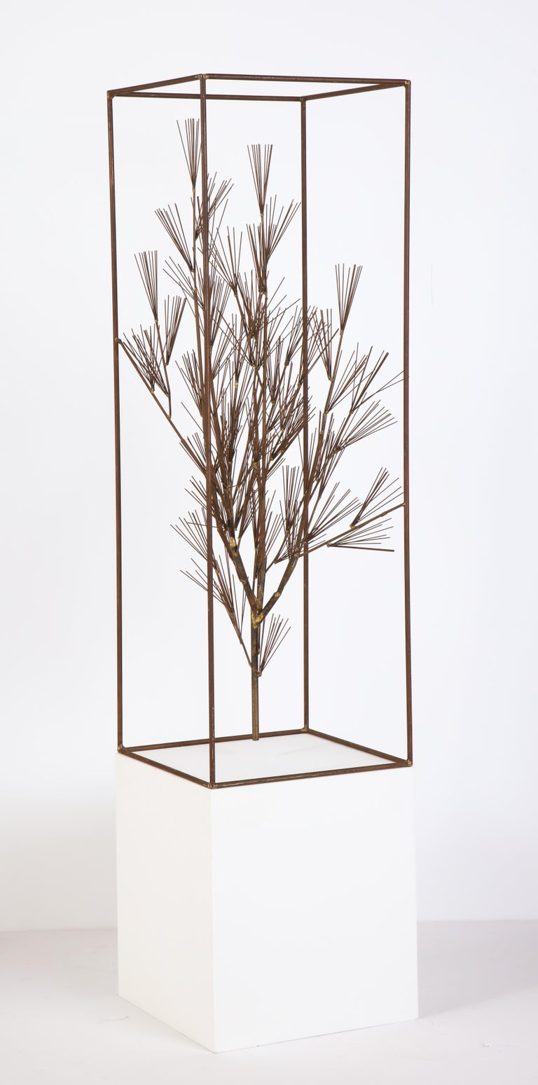 Jere Sculpture of Abstract Tree in Frame, USA, 1960s For Sale 4