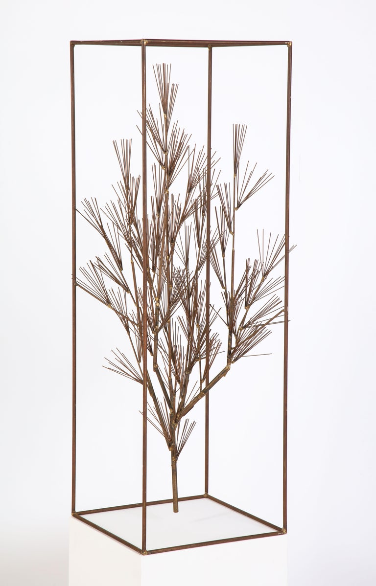 Jere Sculpture of Abstract Tree in Frame, USA, 1960s For Sale 7