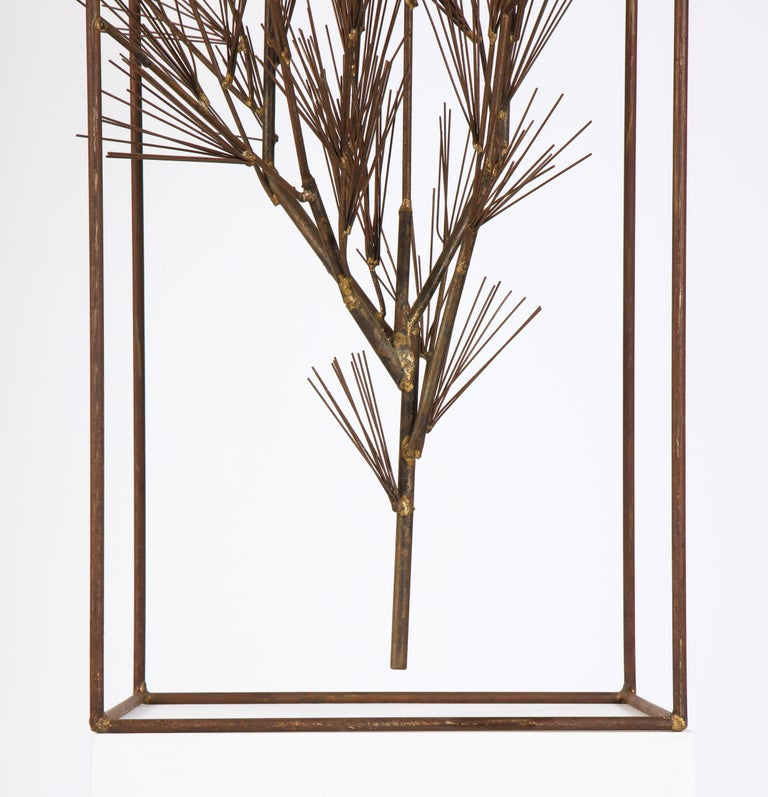 Jere Sculpture of Abstract Tree in Frame, USA, 1960s For Sale 12