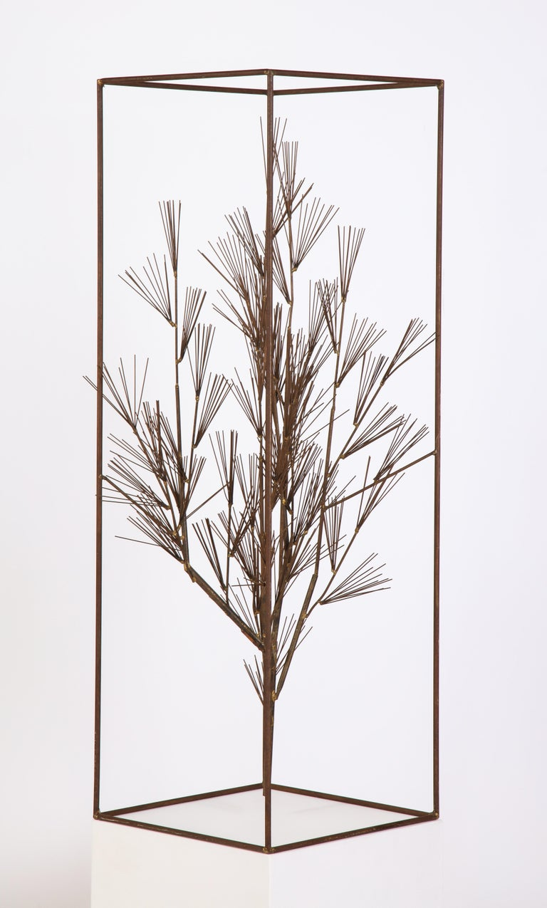 Jere Sculpture of Abstract Tree in Frame, USA, 1960s For Sale 1