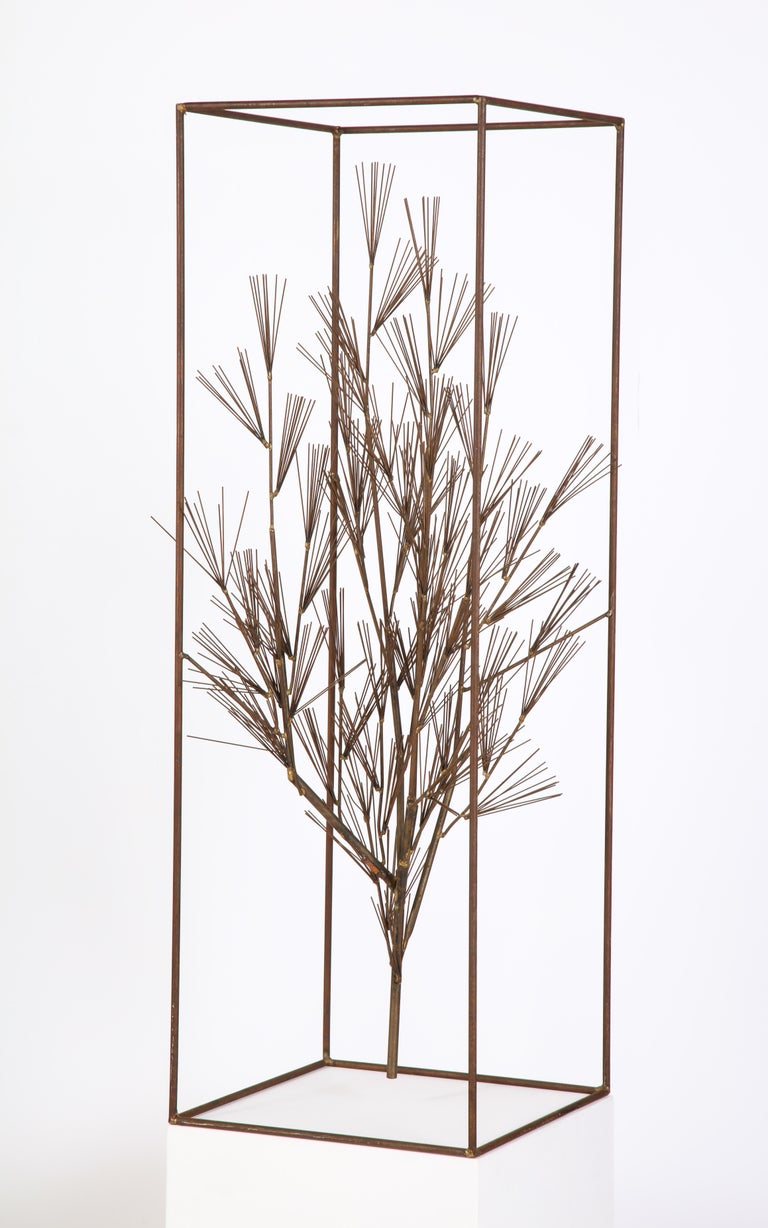Jere Sculpture of Abstract Tree in Frame, USA, 1960s For Sale 2