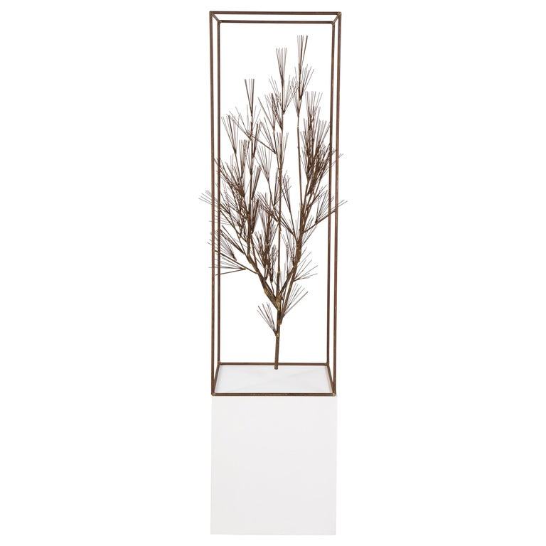 Jere Sculpture of Abstract Tree in Frame, USA 1960s For Sale