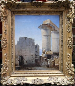 Ancient Ruins - Irish art Old Master architectural landscape oil painting Greece