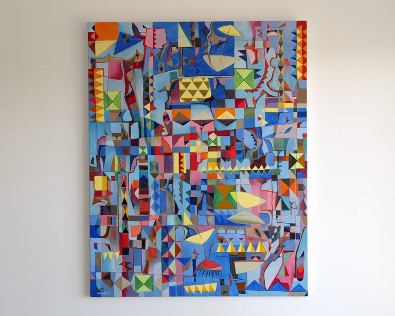 Plage (Abstract Painting) For Sale 6