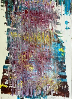 French Abstract Contemporary Art by J. Rebourgeard - La Coulée du Temps