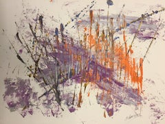 French Abstract Contemporary Art by J. Rebourgeard - La Plume Mère des Cieux