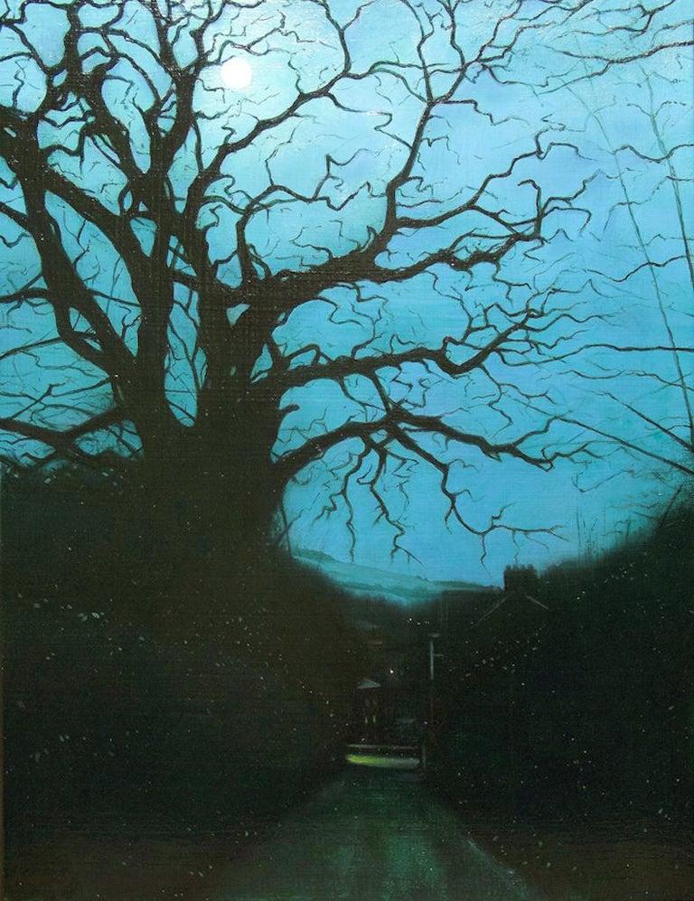 Jeremy Andrews Landscape Painting - Lanidloes, Contemporary 21st Century Oil Landscape