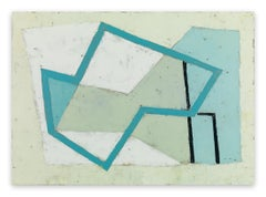 Harbour Forms III (Blue Edge) (Abstract Painting)