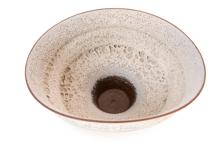 American Jeremy Briddell Large Tiered Ceramic Bowl  For Sale
