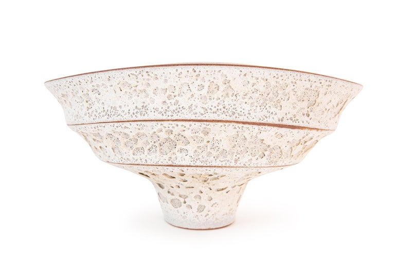 Jeremy Briddell Large Tiered Ceramic Bowl  In Good Condition For Sale In Phoenix, AZ