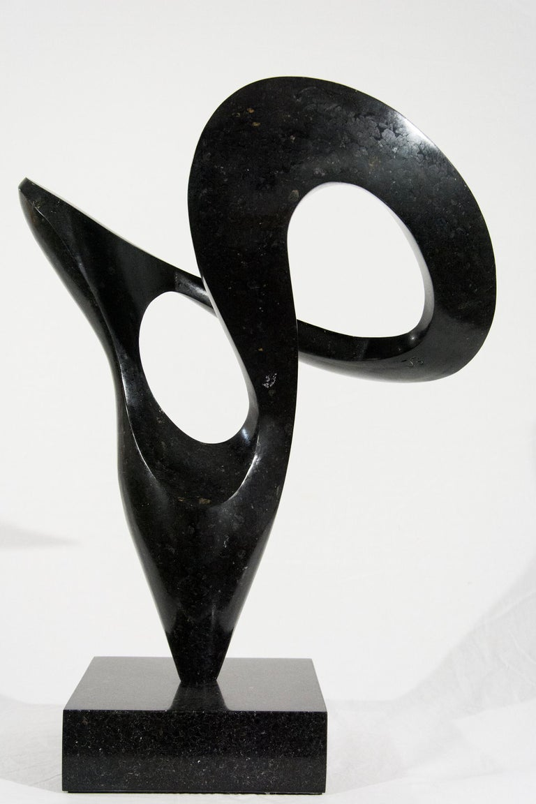 Pirouette 6/20 - Gray Abstract Sculpture by Jeremy Guy