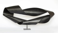 """Sinuous #27"" Black Bentwood Sculpture by Jeremy Holmes"