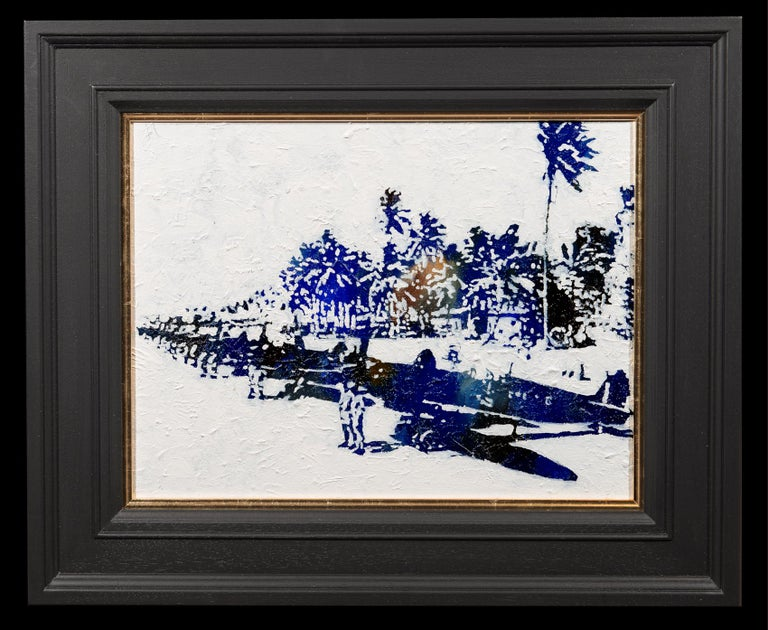 Spitfires in the Pacific - Painting by Jeremy Houghton