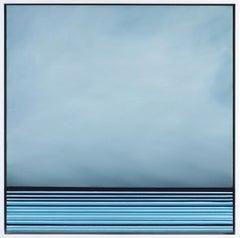 Untitled No. 463 - Framed Contemporary Minimalist Blue Artwork