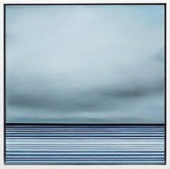 Untitled No. 545 - Framed Contemporary Minimalist Blue Artwork