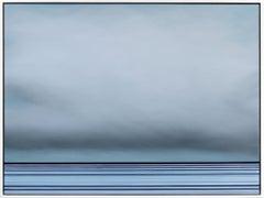 Untitled No. 571 - Framed Contemporary Minimalist Blue Artwork