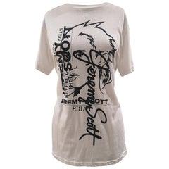 Jeremy Scott white cotton T-shirt NWOT