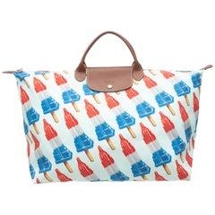 Jeremy Scott White & Multicolor x Longchamp Empire State Popsicle Print Bag