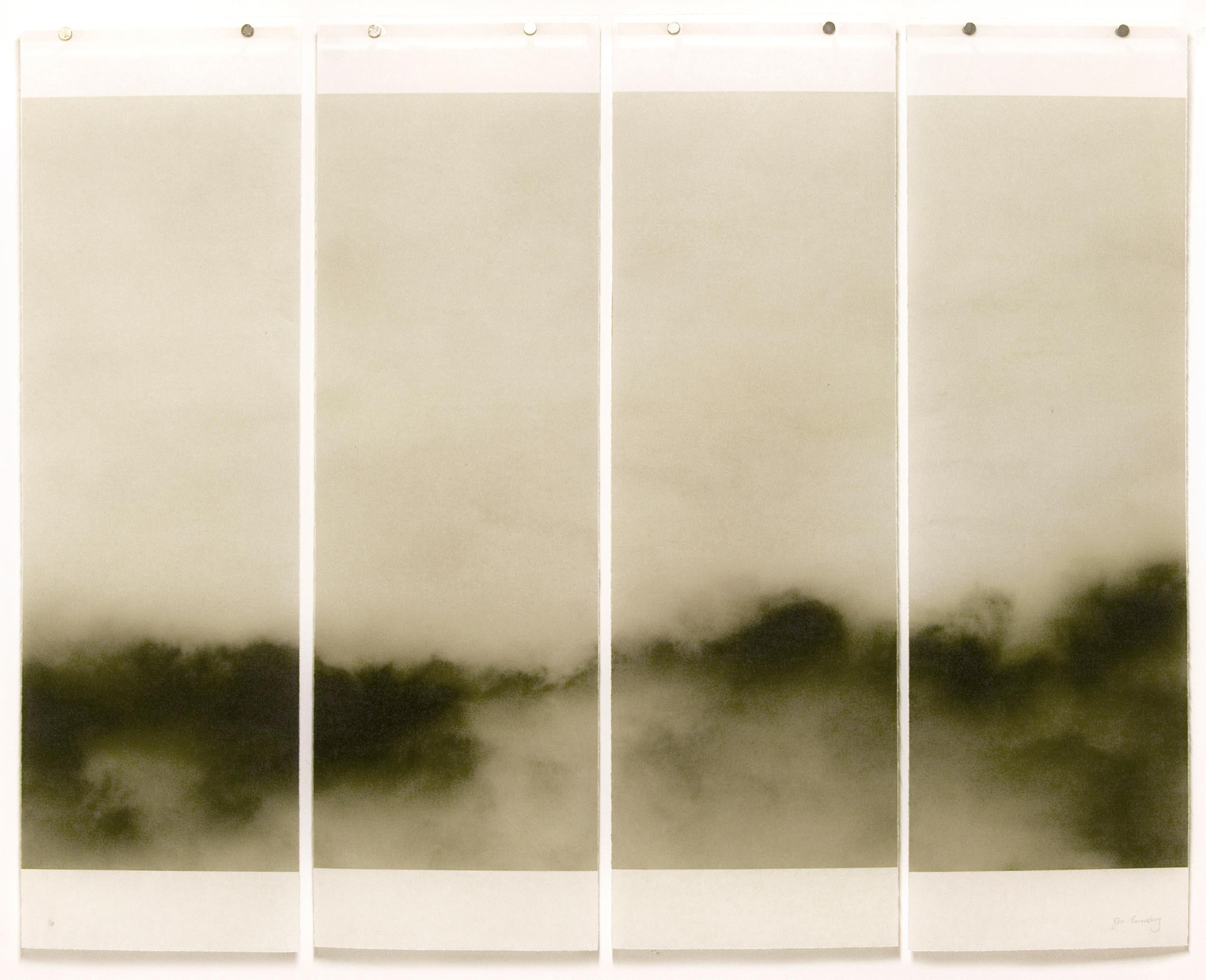 Songs of the Sky 2 (Abstract Landscape Photograph of Clouds in Sky, 4 panels)