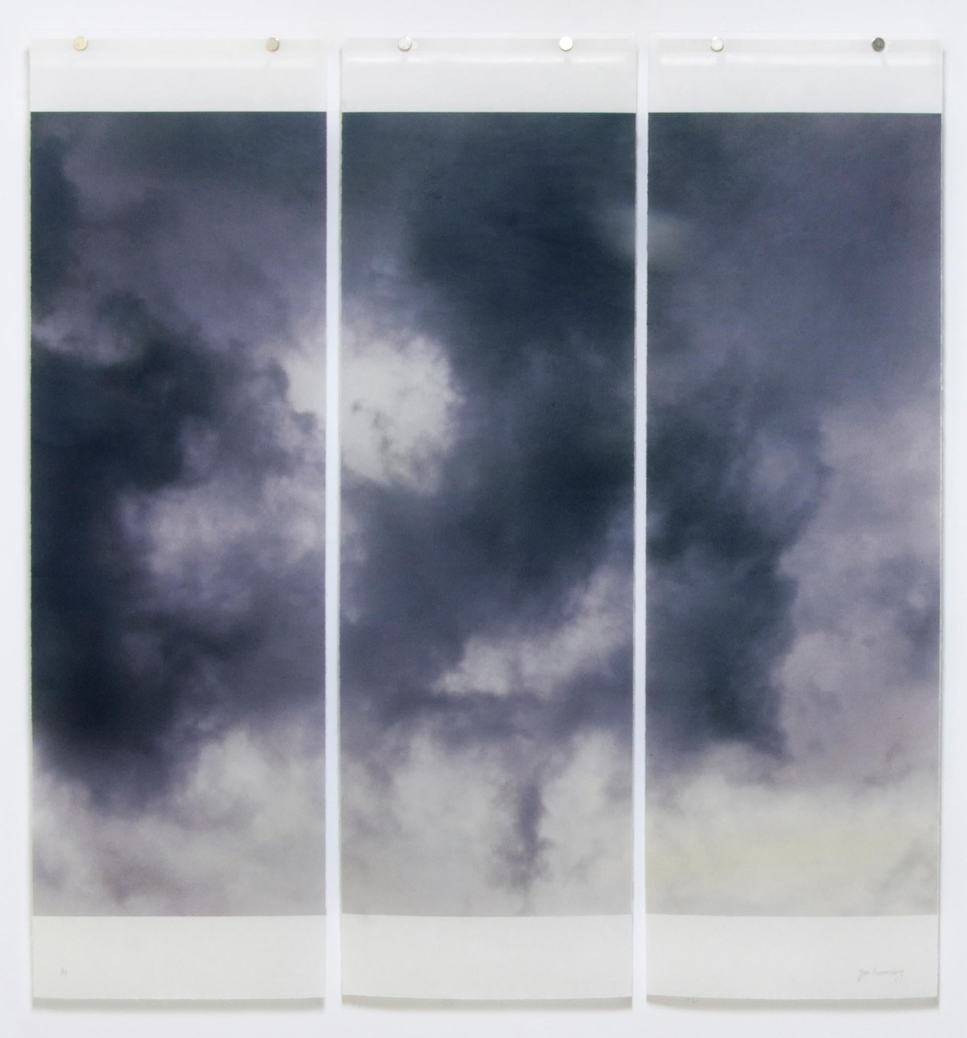 Songs of the Sky 7: Abstract Landscape Photograph of Clouds & Sky, 3 panels