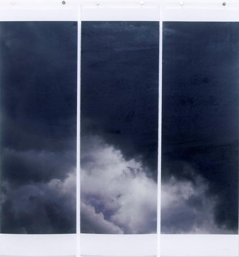 Songs of the Sky No. 1 (3 Panel Photograph of Sky Japanese Kozo Paper/Encaustic)