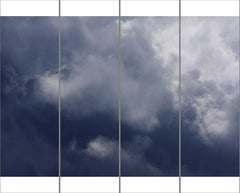 Songs of the Sky No. 11 (4 Panel Sky Photograph Japanese Kozo Paper/Encaustic)