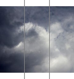 Songs of the Sky No. 8 (3 Panel Photograph of Sky Japanese Kozo Paper/Encaustic)