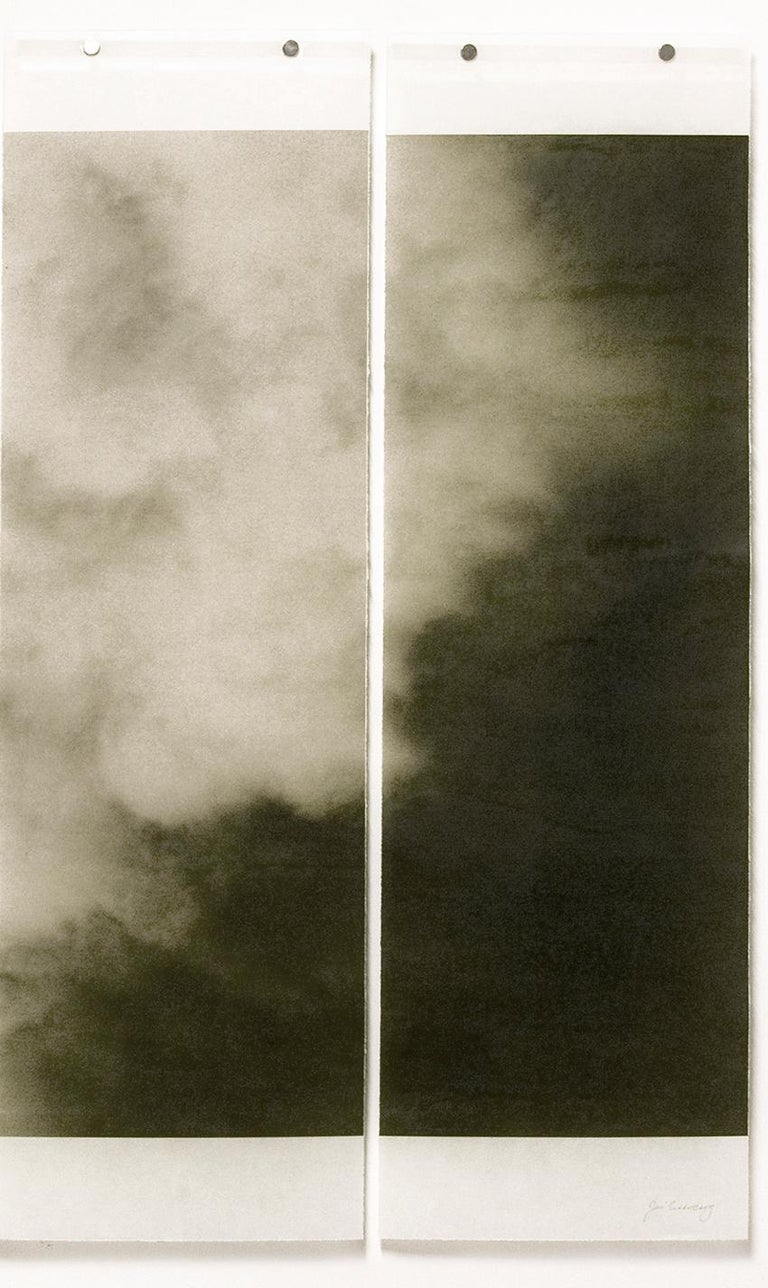 Songs of the Sky 4 (Abstract Landscape Photograph of Clouds & Sky, 4 panels) - Brown Abstract Photograph by Jeri Eisenberg