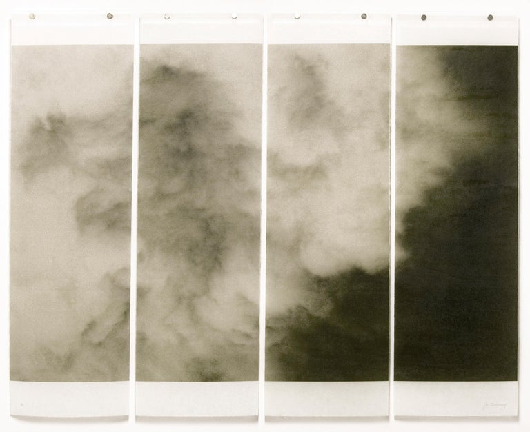 Jeri Eisenberg Abstract Photograph - Songs of the Sky 4 (Abstract Landscape Photograph of Clouds & Sky, 4 panels)