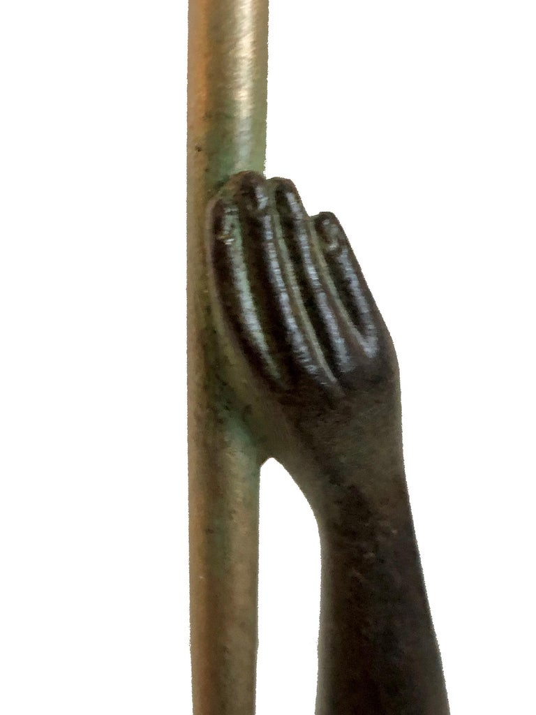 Jericho Trumpet Sculpture from Raymonde Guerbe by Max Le Verrier Art Deco Style 2
