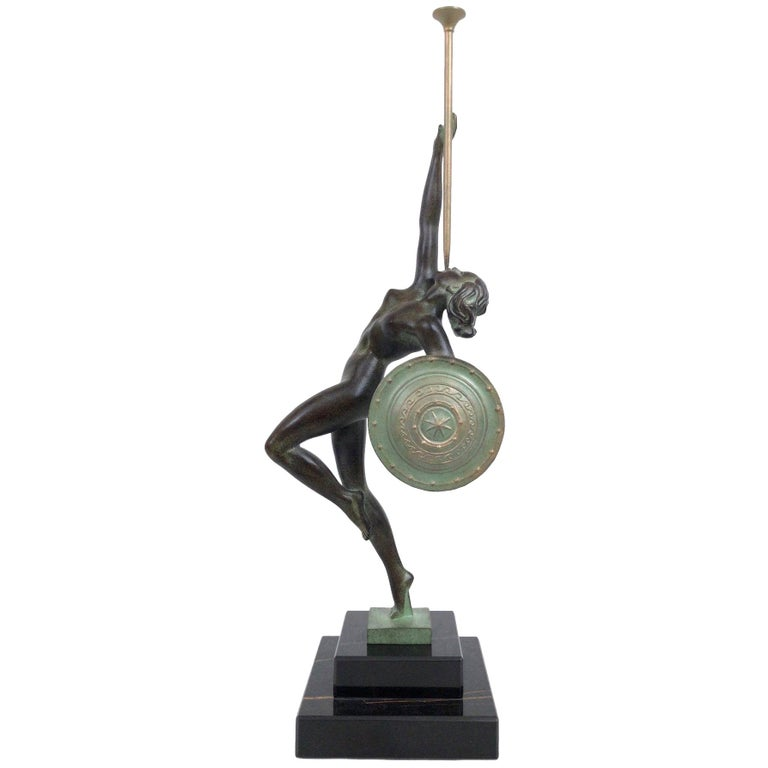 Jericho Trumpet Sculpture from Raymonde Guerbe by Max Le Verrier Art Deco Style