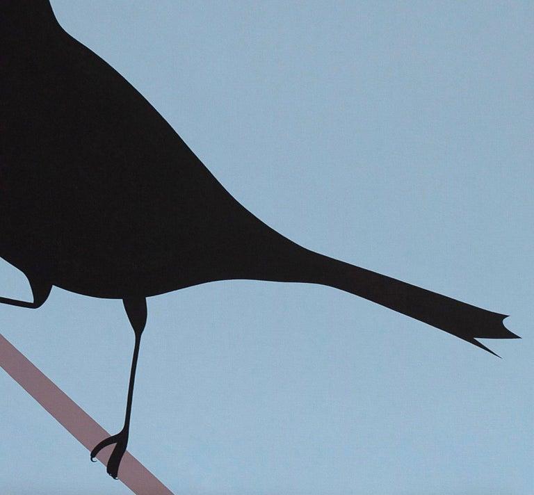 Black bird - figurative landscape painting - Contemporary Painting by Jeroen Allart