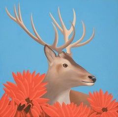 Deer - figurative animal painting