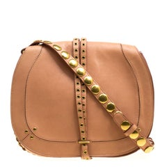 Jerome Dreyfuss Brown Leather Nestor Saddle Bag