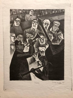 The Critic or Nick's 1947 Lithograph Jazz Band