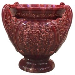 Jerome Massier, Very Large Ceramic Vase Art Nouveau, Vallauris, circa 1900