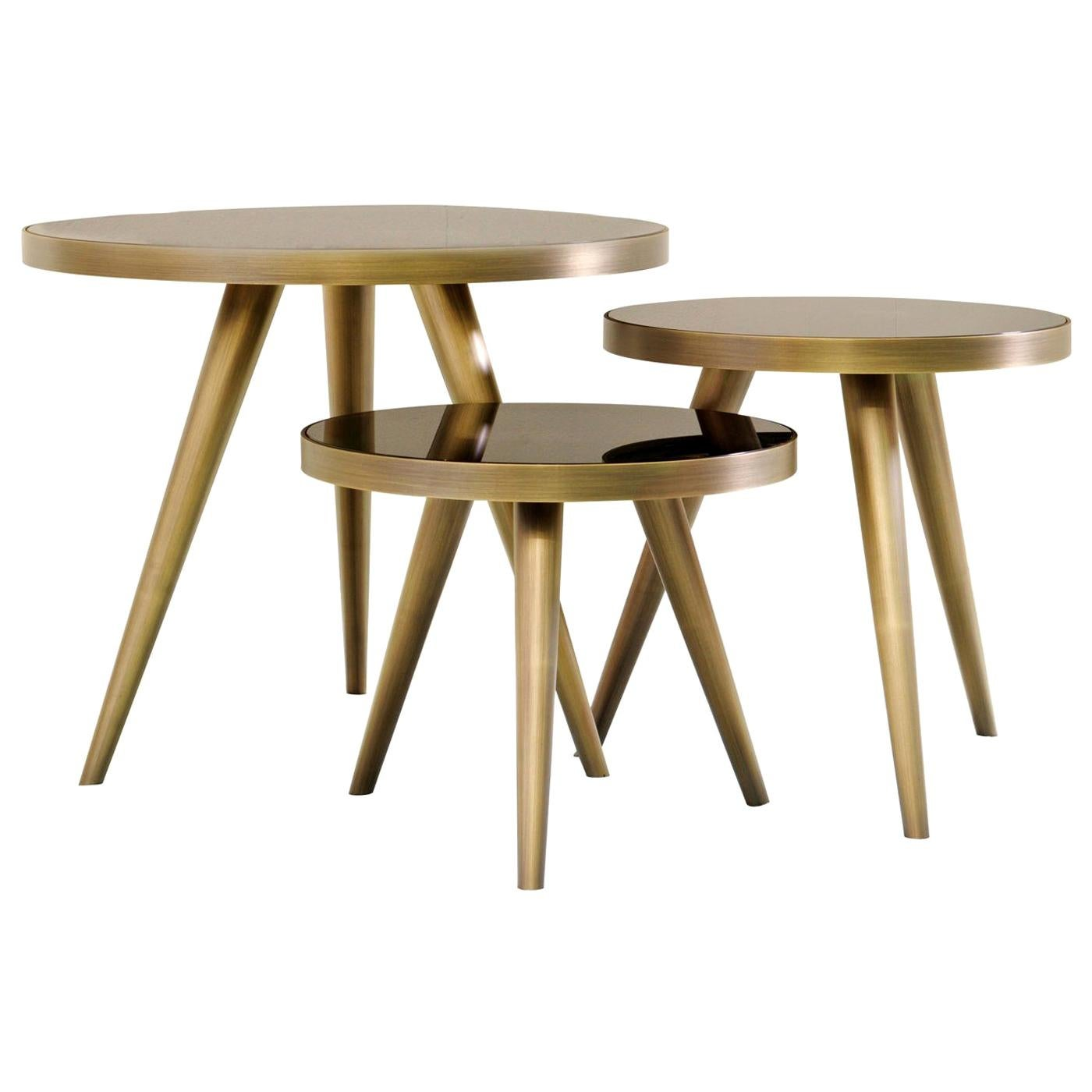 Jerome Set of 3 Nesting Side Tables by Dom Edizioni