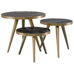 Jerome Set of 3 Side Tables by Dom Edizioni