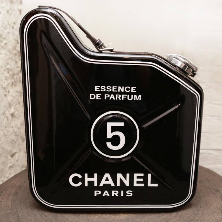 Contemporary Jerrican Chanel N°5 Black Art Piece in Limited Edition For Sale
