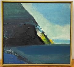 Jerrold Davis Abstract Point Reyes National Seashore Oil Painting 20th c.