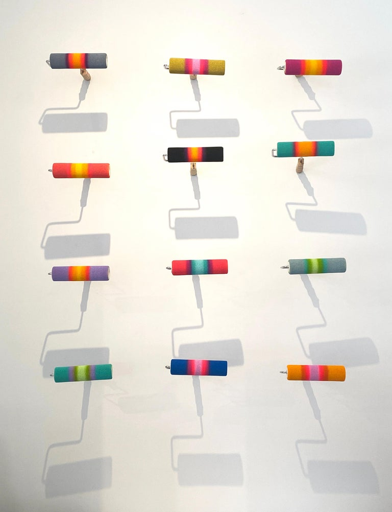 Paint Roller Series - Painting by Jerry Cabrera