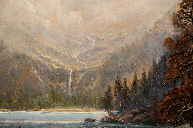 Odessa Lake, Colorado, Traditional Landscape Painting: Water, Trees and Mountain For Sale 3
