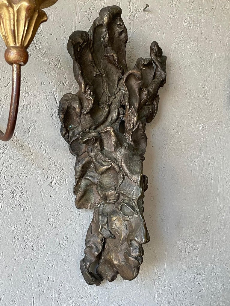 An unusual bronze sculpture by noted Tampa FL sculptor Jerry Meatyard, made in 1978 and titles