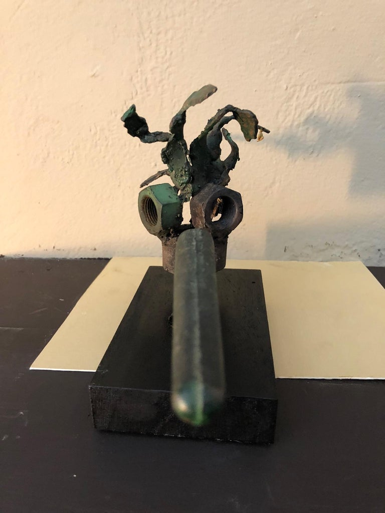 Cut Steel Jerry Meatyard Unique Sculpture For Sale
