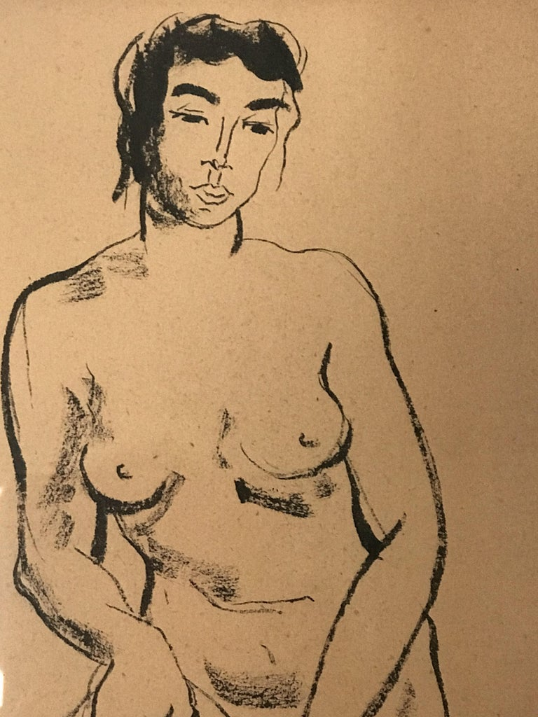 Mid-Century Modern Jerry O' Day Nude Drawing For Sale