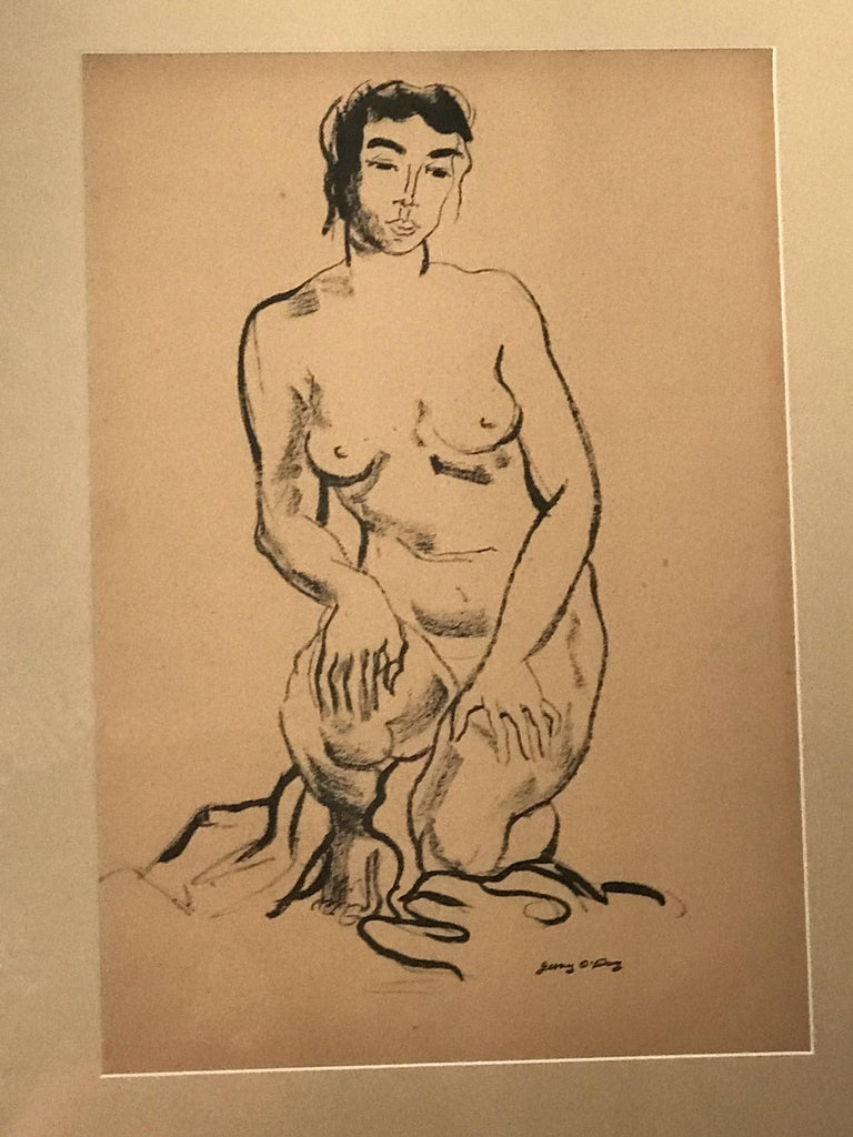 Jerry O' Day Nude Drawing In Excellent Condition For Sale In Pasadena, CA